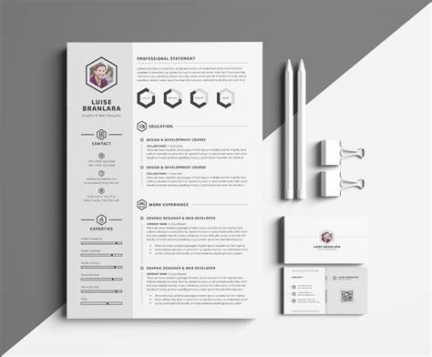 minimal resumecv resume templates creative market