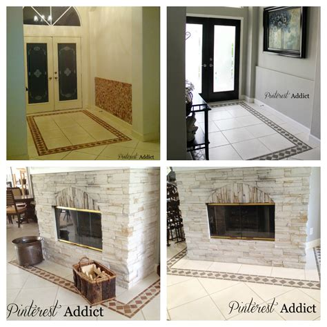 Before And After Pictures Of Painted Bathroom Tiles by Painted Floor Tile Update Addict