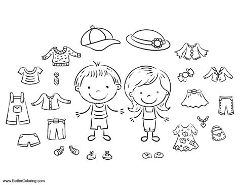 coloring cloth summer coloring pages summer clothes free printable