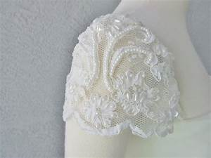 detachable ivory beaded lace cap sleeves to add to your With adding beading to wedding dress