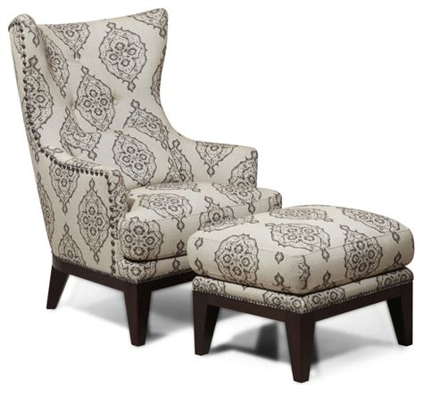 simon li fabric accent chair and ottoman set