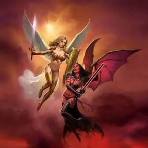 Angel vs Demon by James Ryman | DecalGirl