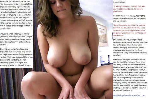 Owltiedup Femdom Captions 2 Male Sex Slavery 6 Pics