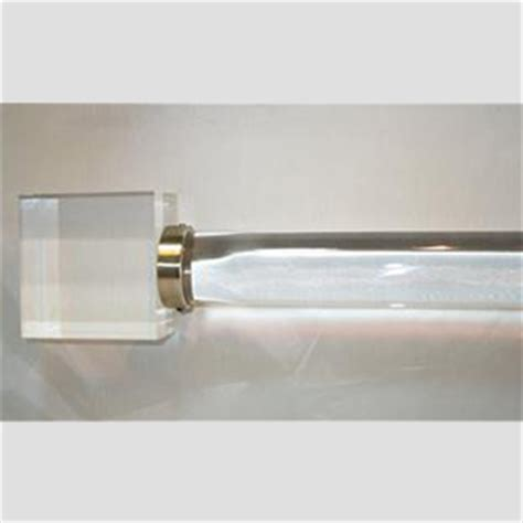 acrylic drapery rods acrylic lucite curtain and drapery rods brackets and