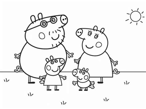 Peppa Pig's Family coloring page Free Printable Coloring
