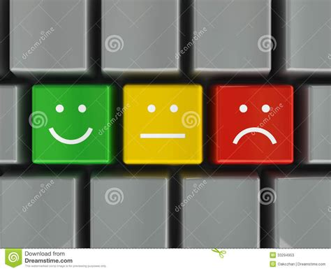 Keyboard Positive, Neutral And Negative Stock Photos  Image 33294953