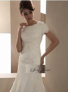 Robe Courte Mariée : robe de mariee dentelle et tulle robe de mariee manche sunny mariage ~ Melissatoandfro.com Idées de Décoration