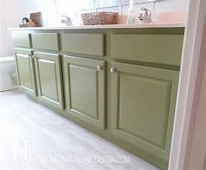 How to paint a bathroom vanity like a professional for How to paint an old bathroom vanity