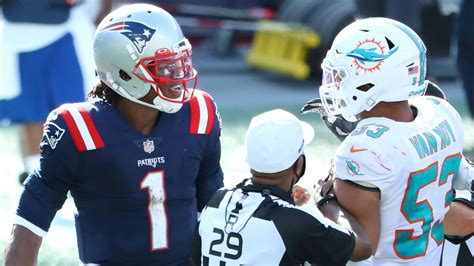 Patriots' Cam Newton explains late-game tussle with ...