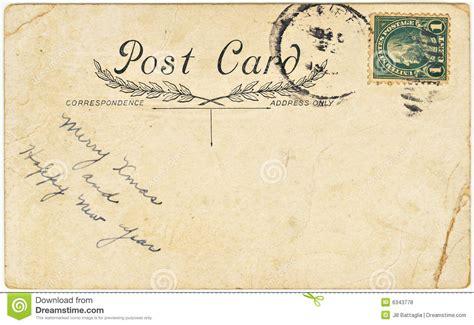 Vintage Postcard Template Photoshop Wallpaper Vintage Postcard With Greeting Stock Photo