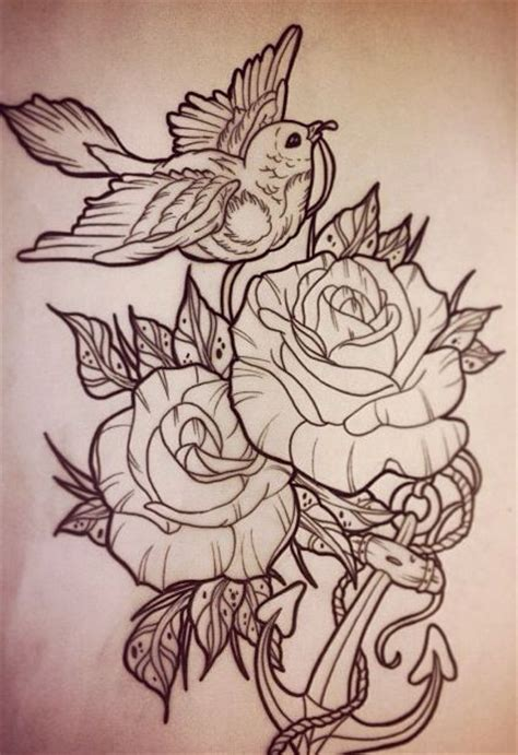 bird rose tattoos body art tattoos pretty tattoos