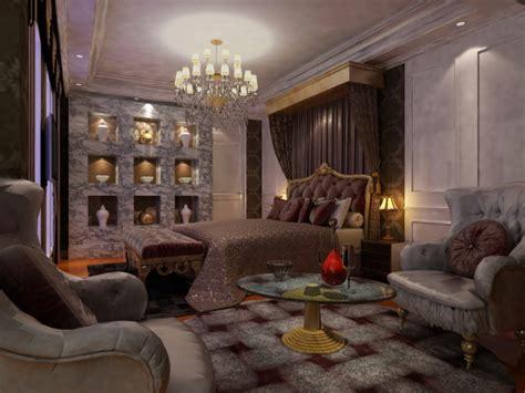plushly designed bedroom  grey wood  light pink