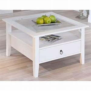 Table Basse Carrée En Bois : table basse carr e 1 tiroir en pin provence1 achat ~ Teatrodelosmanantiales.com Idées de Décoration