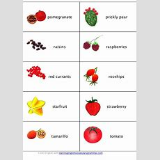Fruit Vegetables Berries And Mushroom Vocabulary Learning English Fru…