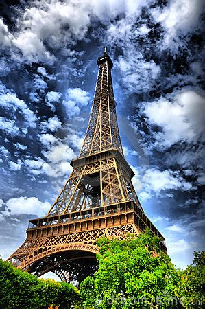 eiffel tower hdr royalty  stock photography image
