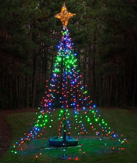 christmas tree made of light strings mouthtoears com