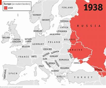 Russia Europe Land Controlled Europa 1938 Ussr