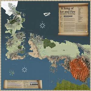 Westeros & Essos map (Game of Thrones). | Unreal Maps ...