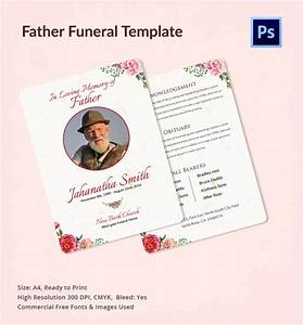 12 father funeral program templates sample templates With free editable funeral program template