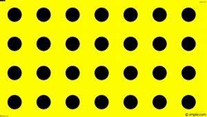 Wallpaper dots polka yellow black spots #ffff00 #000000 30 ...