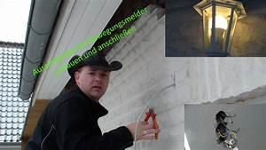 Bewegungsmelder Wo Anbringen : es werde licht aussenlampe anbringen mit bewegungsmelder ~ Lizthompson.info Haus und Dekorationen