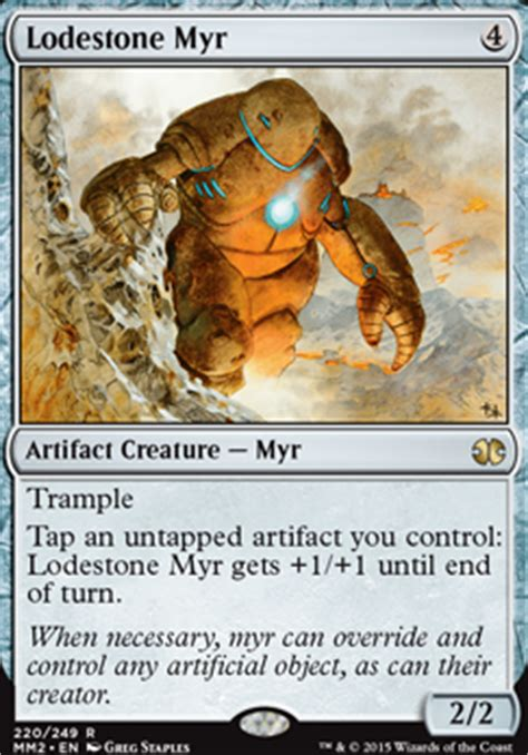 myr commander deck mtg lodestone myr mm2 mtg card
