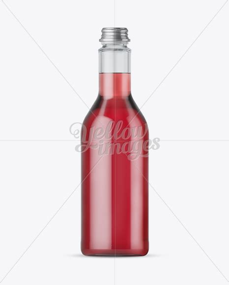 Free beer bottle mockup is now available. 500ml Clear Glass Bottle With Berry Syrup Mockup in Bottle ...