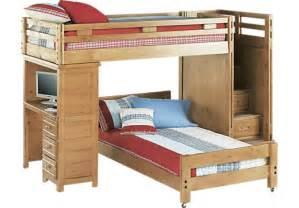 creekside taffy step bunk bed with desk bunk desk