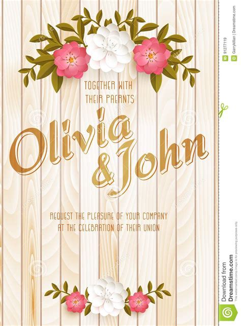 Wedding Invitation Card Vector Invitation Card With