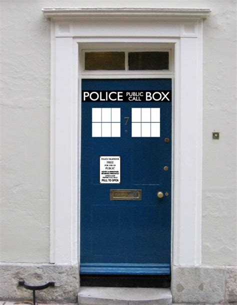 tardis door cover the gallery for gt tardis door decal