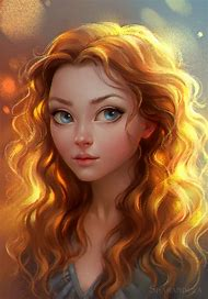 deviantART Digital Art Portrait Girl Blue
