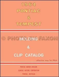 1964 Tempest  Lemans   U0026 Gto Wiring Diagram Manual Reprint
