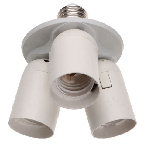 3 to 1 light socket e26 splitter l base adapter for