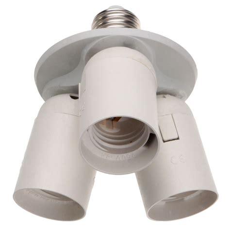 3 To 1 Light Socket E26 Splitter Lamp Base Adapter For