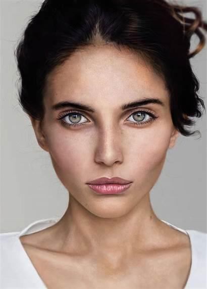 Portrait Deviantart Painting Paintings Ed Makeup Face