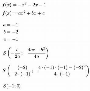 1 Ableitung Berechnen : scheitelpunkt berechnen ablesen formel und parabel ~ Themetempest.com Abrechnung