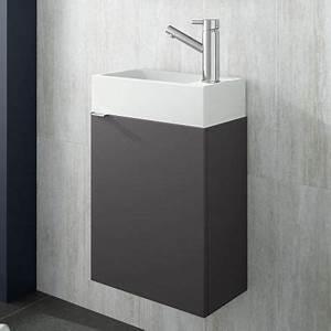 Lave Main 15 Cm Profondeur : meuble lave main faible profondeur 22x40 cm gris mat ~ Melissatoandfro.com Idées de Décoration