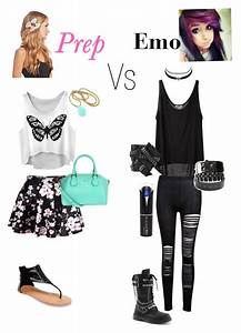 Prep vs emo   My Style   Pinterest   Emo Polyvore and Clothes