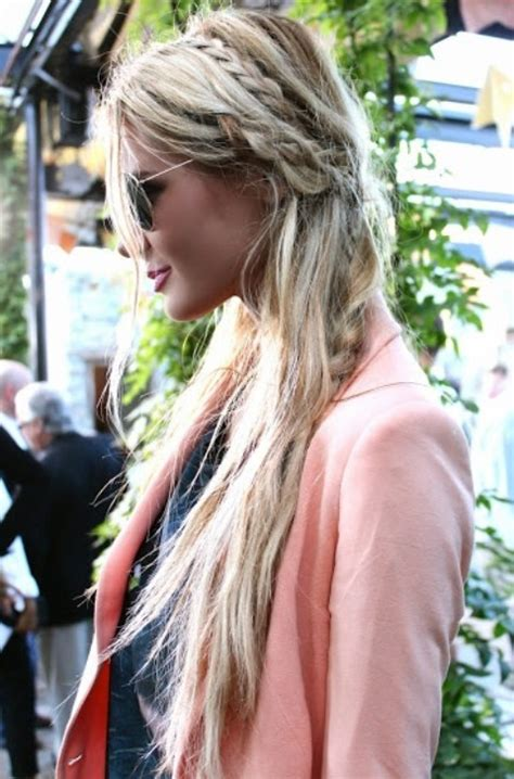 Paris Hilton Hairstyles: Messy Braided Hairstyle   Pretty
