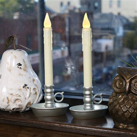 lights flameless candles window candles ivory