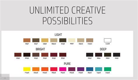 elumen color chart elumen color chart hair diagram color colorful fashion