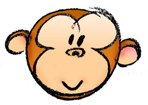 draw  cartoon monkey face  steps  pictures