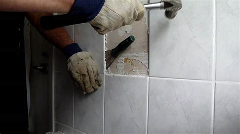 Ideas For Kitchen Walls - removing bathroom tiles youtube