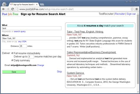 Resumes Search by Post Free Sign Up For Resume Search Alert