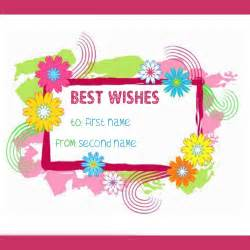 best wishes with name