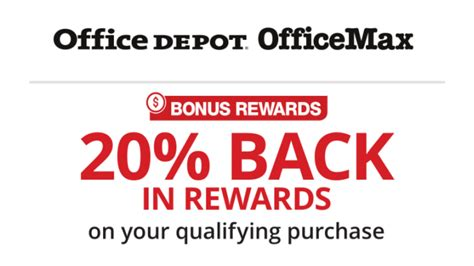 Office Max Rewards by Office Depot Officemax 20 Back In Rewards Southern