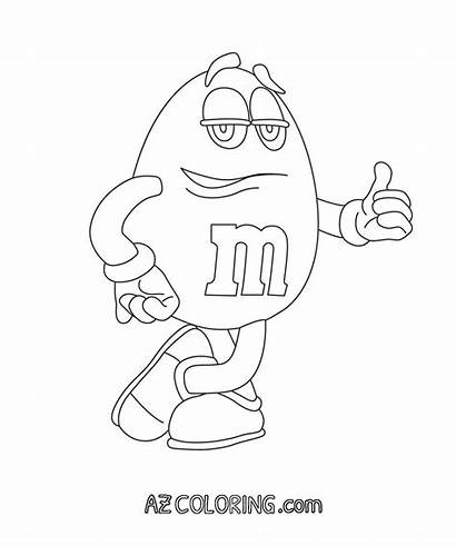 Coloring Pages Mm Printable Candy Popular Coloringhome