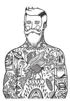 freehand, realistic trash, white trash polka, tattoos n