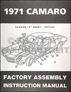 1971 Camaro Wiring Diagram Manual Reprint