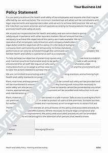 Hse Health And Safety Policy Template Painting And Decorating Health And Safety Policy Template HASpod